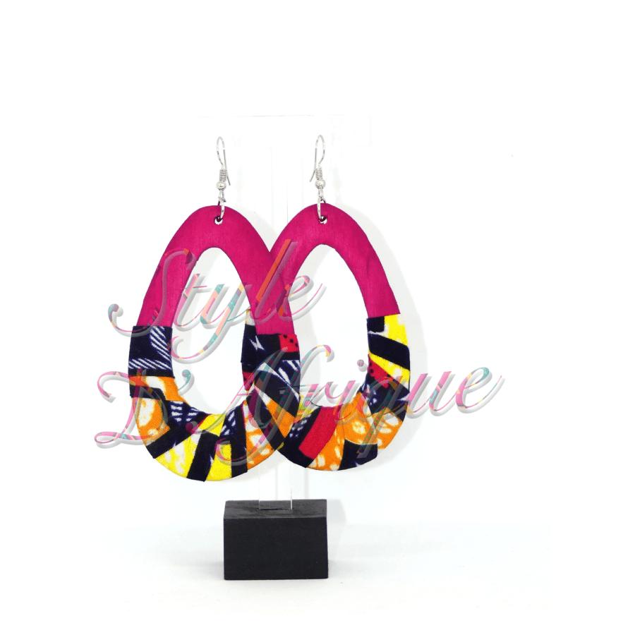 boucles d'oreilles créoles femme wax africain ethnique. bijoux wax femme africaine, bijoux fantaisie, breloque africaine, bijoux ethniques, bijoux bohème, bijoux traditionnel chic