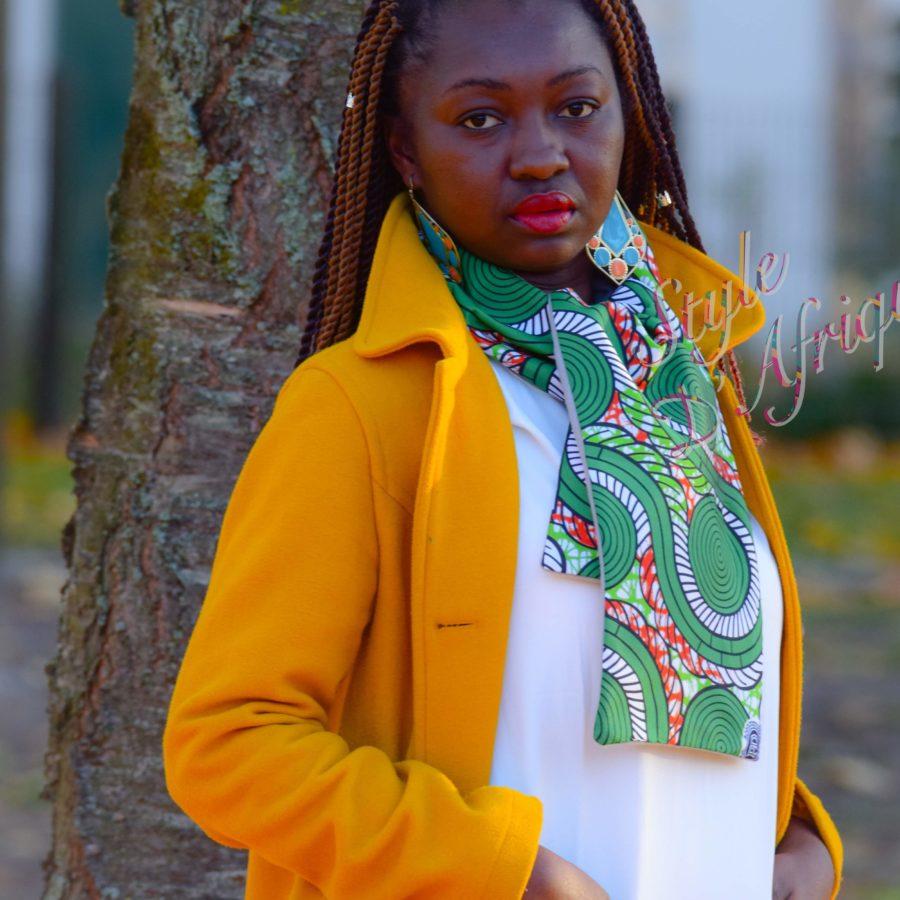 écharpe wax africain ankara doublé polaire