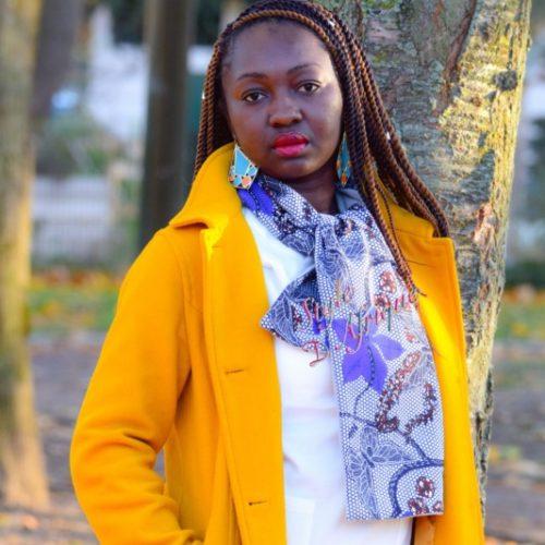 écharpe wax africain ankara doublé polaire. écharpe d'automne foulard doublé polaire hiver mixte snood en wax africain