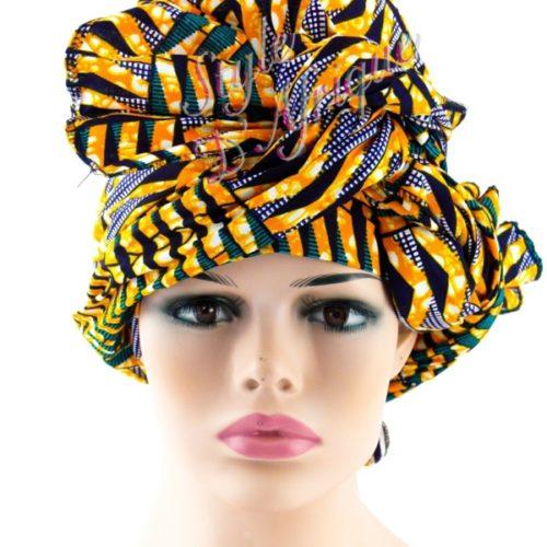 chouchou serre tête wax africain pour cheveux. Headband wax éthnique africain, Bijoux de tête, Bandeau pour cheveux ethnique tissu wax : Cadeau pour femme été