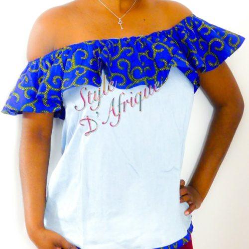 haut vêtement femme wax africain tissu ankara. haut wax femme moderne crop top wax haut africain femme haut wax moderne vêtements wax femme tunique wax femme blouse wax femme chemise wax femme