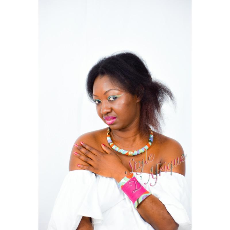 manchette bracelet wax africain femme été ethnique