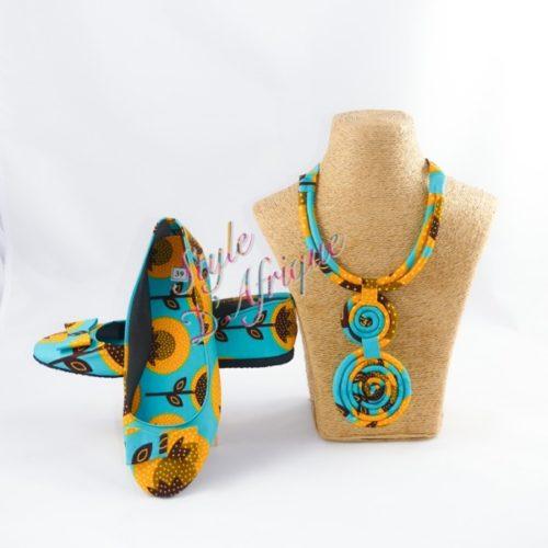 ballerine et collier massaï africain ethnique motifs tribal