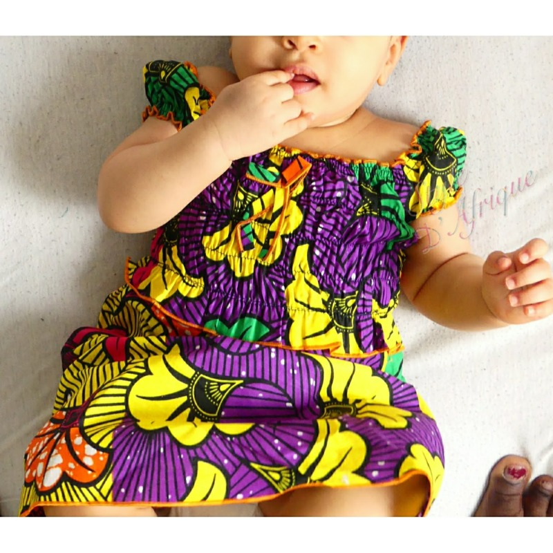 robe été africain enfant artisanat pour bébé