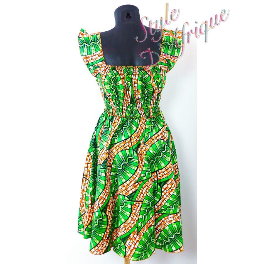 robe vêtement femme wax africain tissu ankara