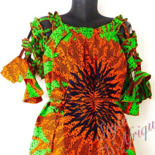 robe évasée wax africain femme. robe courte été wax africain bohème chic femme, robe de bal, robe été, robe de cérémonie femme, robe courte fleurie