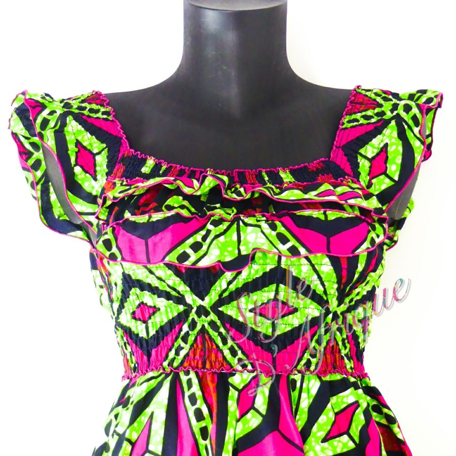 robe vêtement femme wax africain tissu ankara fille
