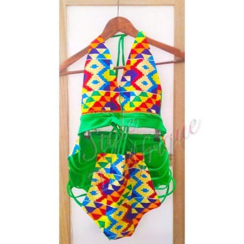 maillot de bain wax ankara KENTE Africain