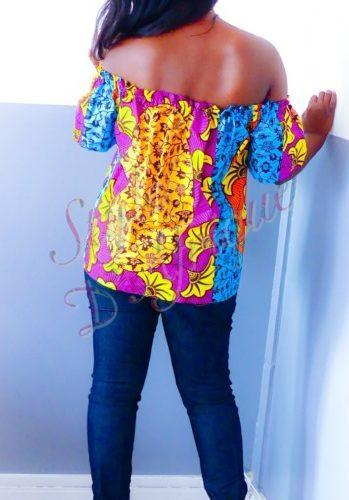 haut vêtement femme wax africain tissu ankara