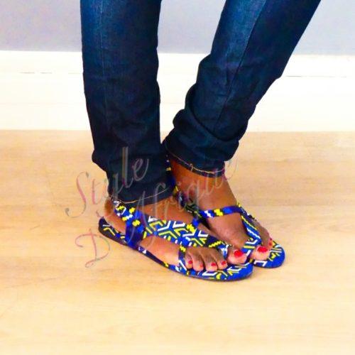 sandales wax ankara africain ethnique