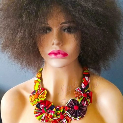 collier ethnique africain wax. collier ras de cou wax africain ethnique. bijoux collier wax femme africaine, bijoux fantaisie, breloque africaine, bijoux ethniques, collier bohème, collier traditionnel chic
