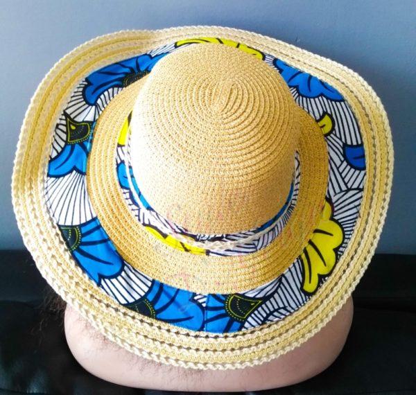 capeline chapeau paille wax fleurs mariage