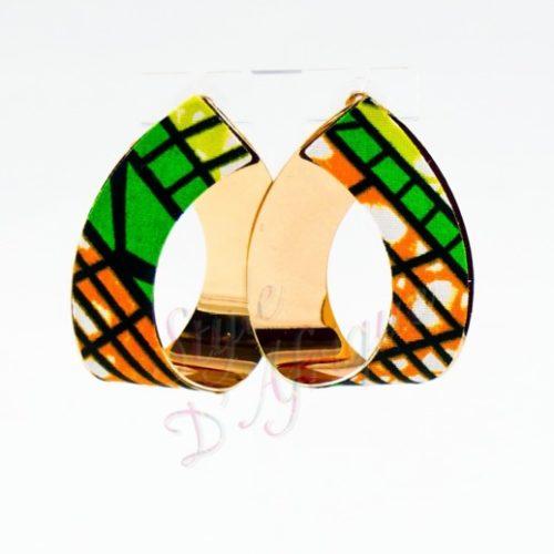 boucles d'oreilles cajou wax africain