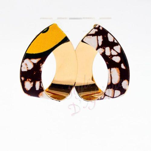 boucles d'oreilles cajou, boucles d'oreille wax africain