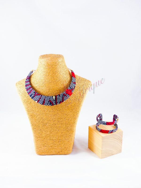 parure wax africaine rouge