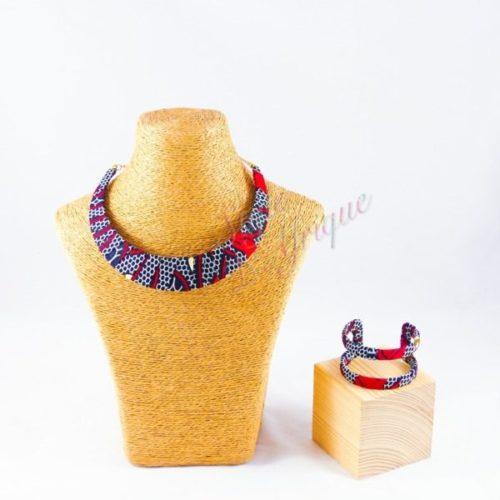 parure wax africaine rouge