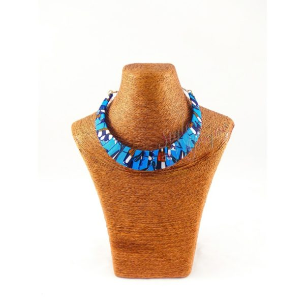 Collier wax africain ras de cou