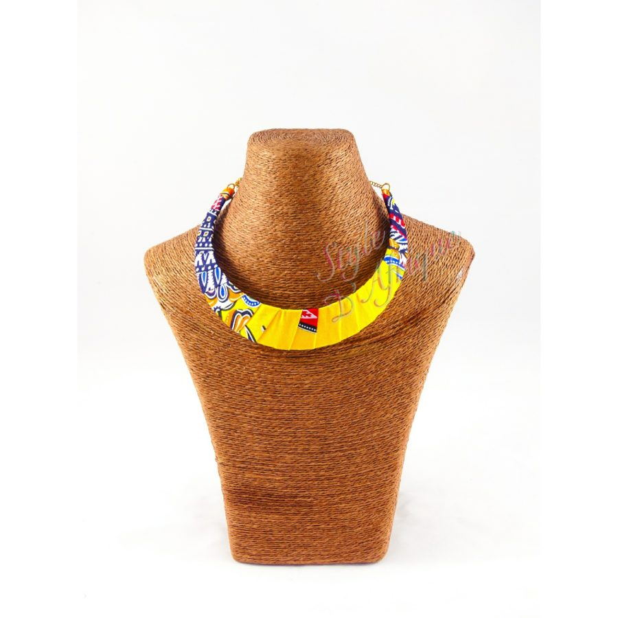 Collier wax africain dashiki