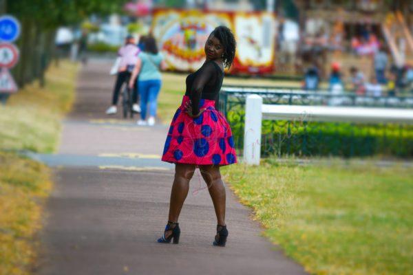 jupe midi africaine wax pagne pour femme fleuri été jupe africaine moderne ethnique