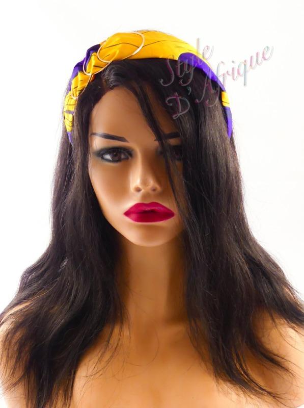 serre tête wax africain pour cheveux