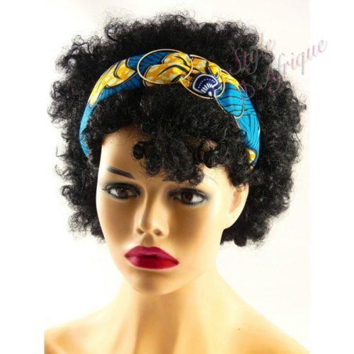 serre tête wax africain pour cheveux. Headband wax éthnique africain, Bijoux de tête, Bandeau pour cheveux ethnique tissu wax : Cadeau pour femme été