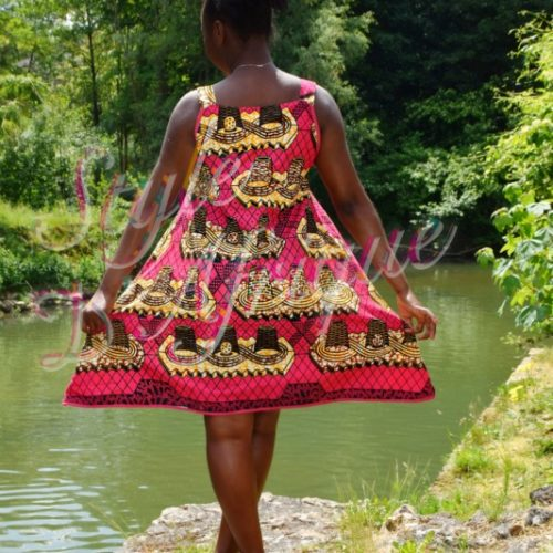 Robe wax africain Top wax femme Jupe dashiki femme africain chic moderne traditionnelle