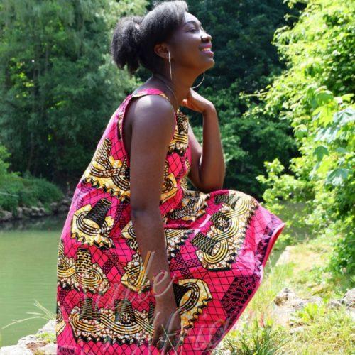 robe wax femme africaine été