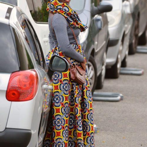 jupe longue africaine wax pagne pour femme fleuri été