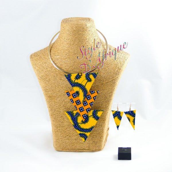 collier multirangs wax ethnique