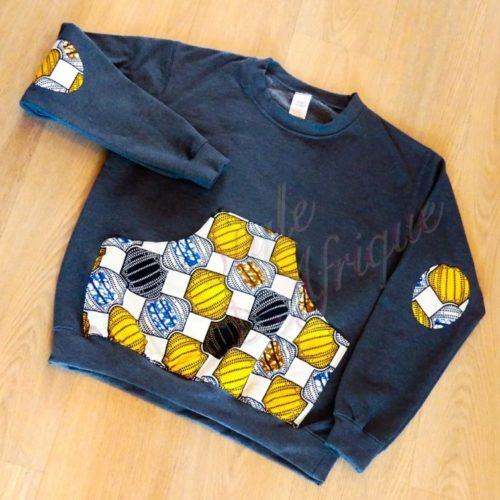 sweat pull africain homme wax hiver polaire
