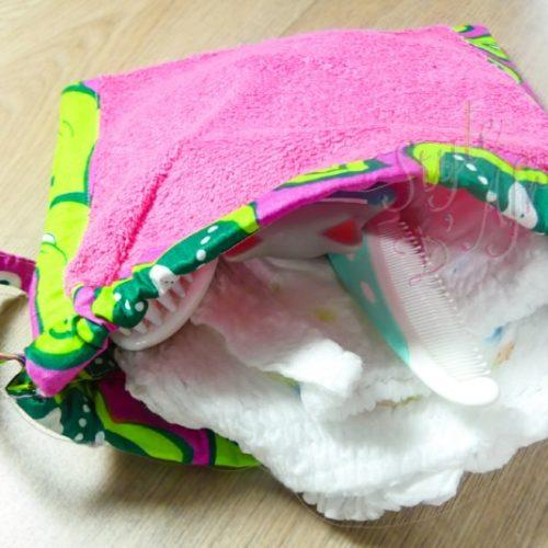 ensemble bavoir serviette gant de toilette wax enfant bébé naissance africain