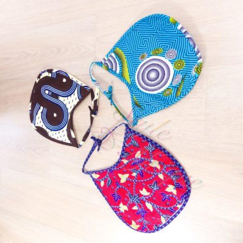 ensemble de bain bavoir serviette gant de toilette wax enfant bébé naissance africain layette puériculture