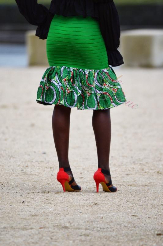 wax jupe africain femme été, jupe courte, jupe droite, jupe extensible wax