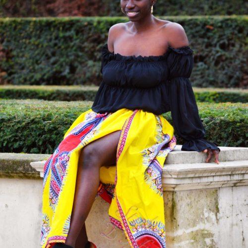 Jupe dashiki femme africain chic moderne traditionnelle