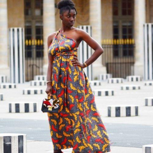 bogolan robe silk soie africain femme été , robe en soie