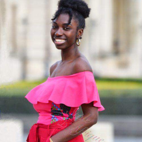body femme africaine wax extensible à volant été chic
