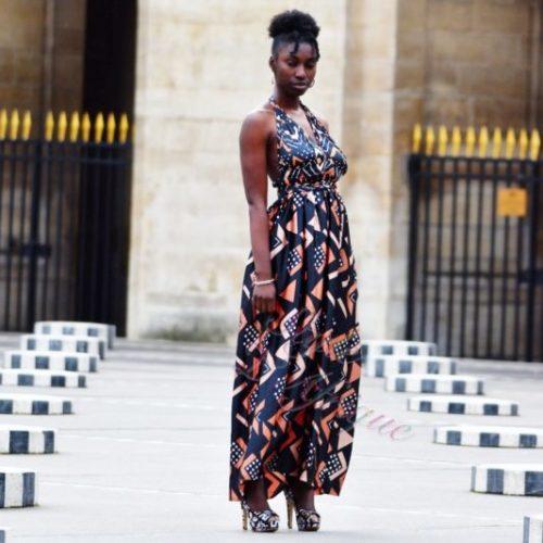 bogolan robe silk soie africain femme été