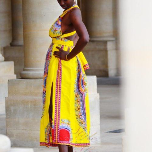 robe longue été dashiki africain bohème chic femme,