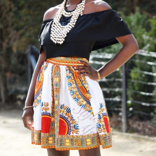 jupe dashiki africain femme chic moderne traditionnelle