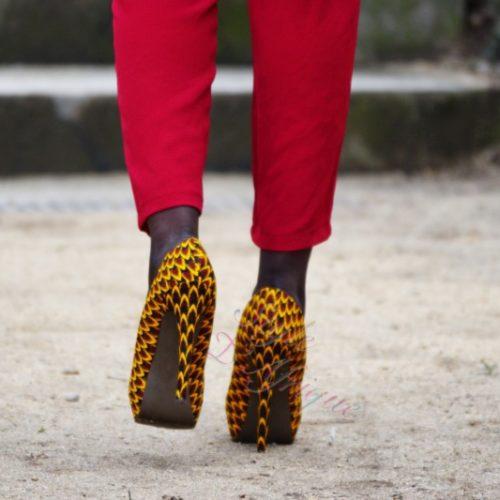chaussures escarpins tendance wax africain femme
