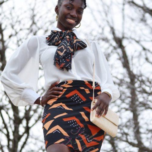 Jupe crayon Bogolan artisanal africain