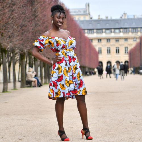 robe été wax africain femme ethnique chic moderne traditionnelle