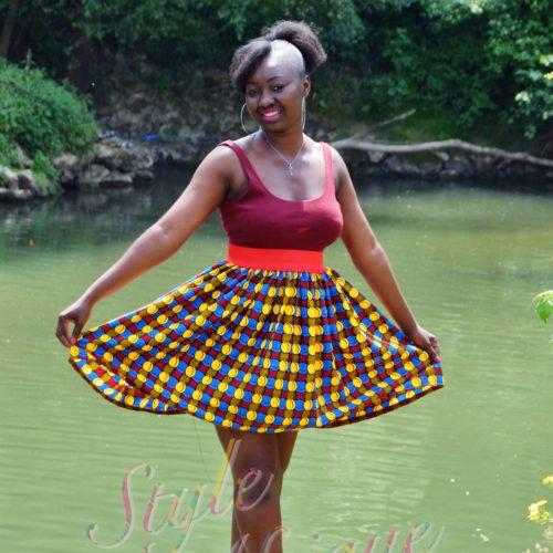 jupe midi africaine wax pagne pour femme fleuri été, foulard de tête, chapeau de tête, bandana,