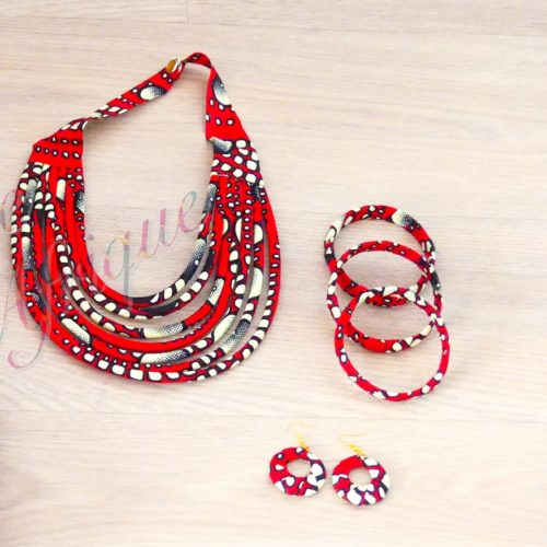 Parure bijoux Massaï rouge poids