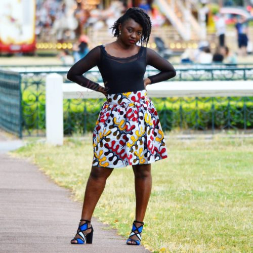 mini jupe plissée évasée, jupe midi africaine wax pagne pour femme fleuri été jupe africaine moderne ethnique