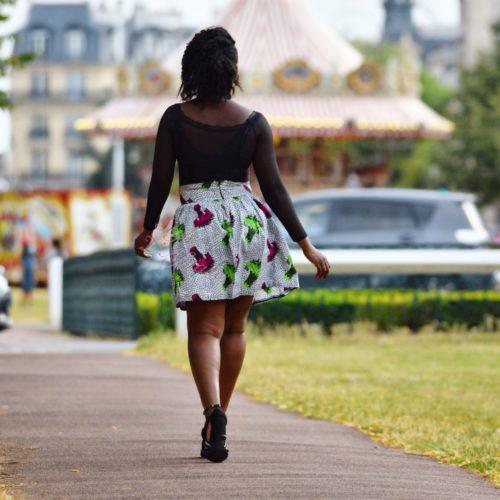 mini jupe d'été, Jupe plissée évasée, jupe midi africaine wax pagne pour femme fleuri été jupe africaine moderne ethnique
