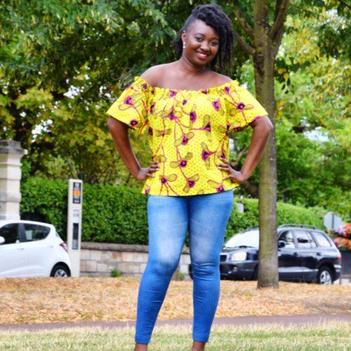 haut top africain peplum motifs wax été pour femme