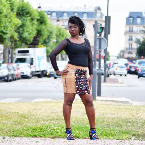 Jupe Matalana velours et BOGOLAN.jupe midi africaine wax pagne pour femme fleuri été jupe africaine moderne ethnique