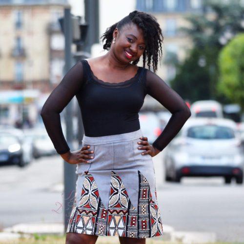 Jupe Mamiwata velours et BOGOLAN.jupe midi africaine wax pagne pour femme fleuri été jupe africaine moderne ethnique