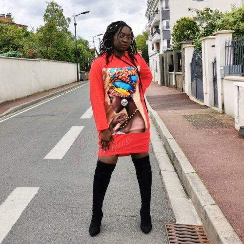 Pull en coton à motifs Africain